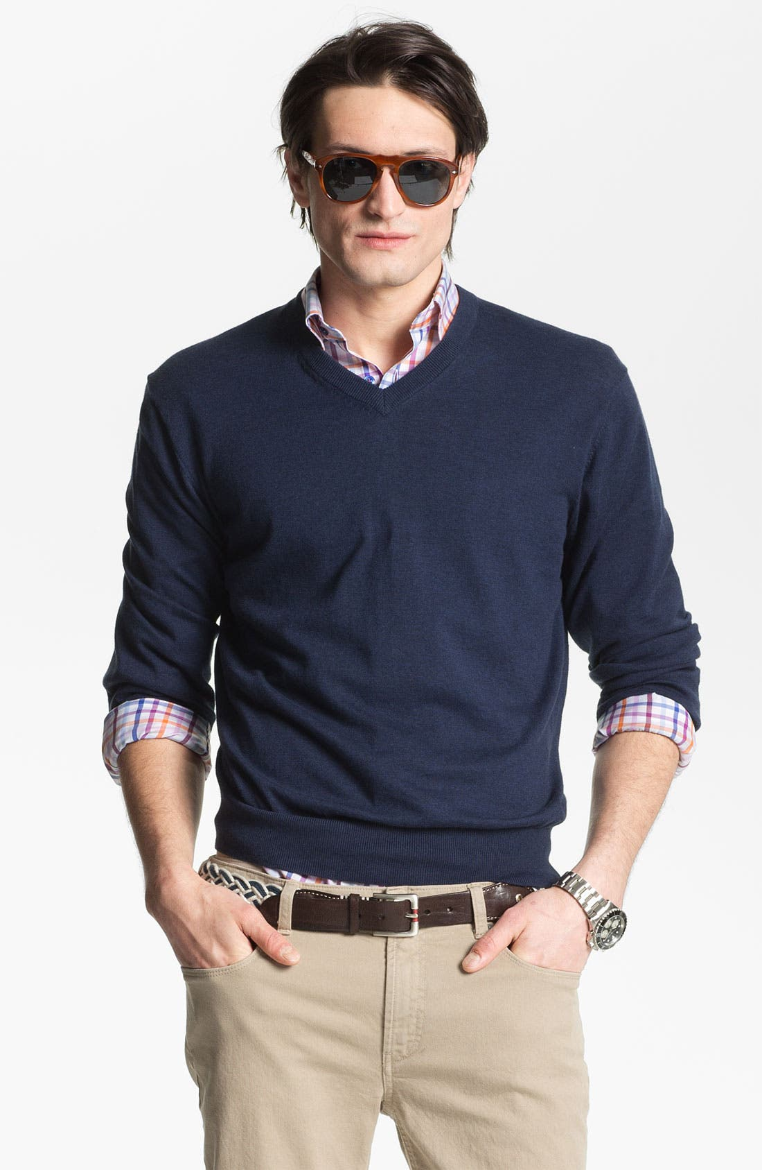 Alternate Image 1 Selected - Toscano V-Neck Sweater