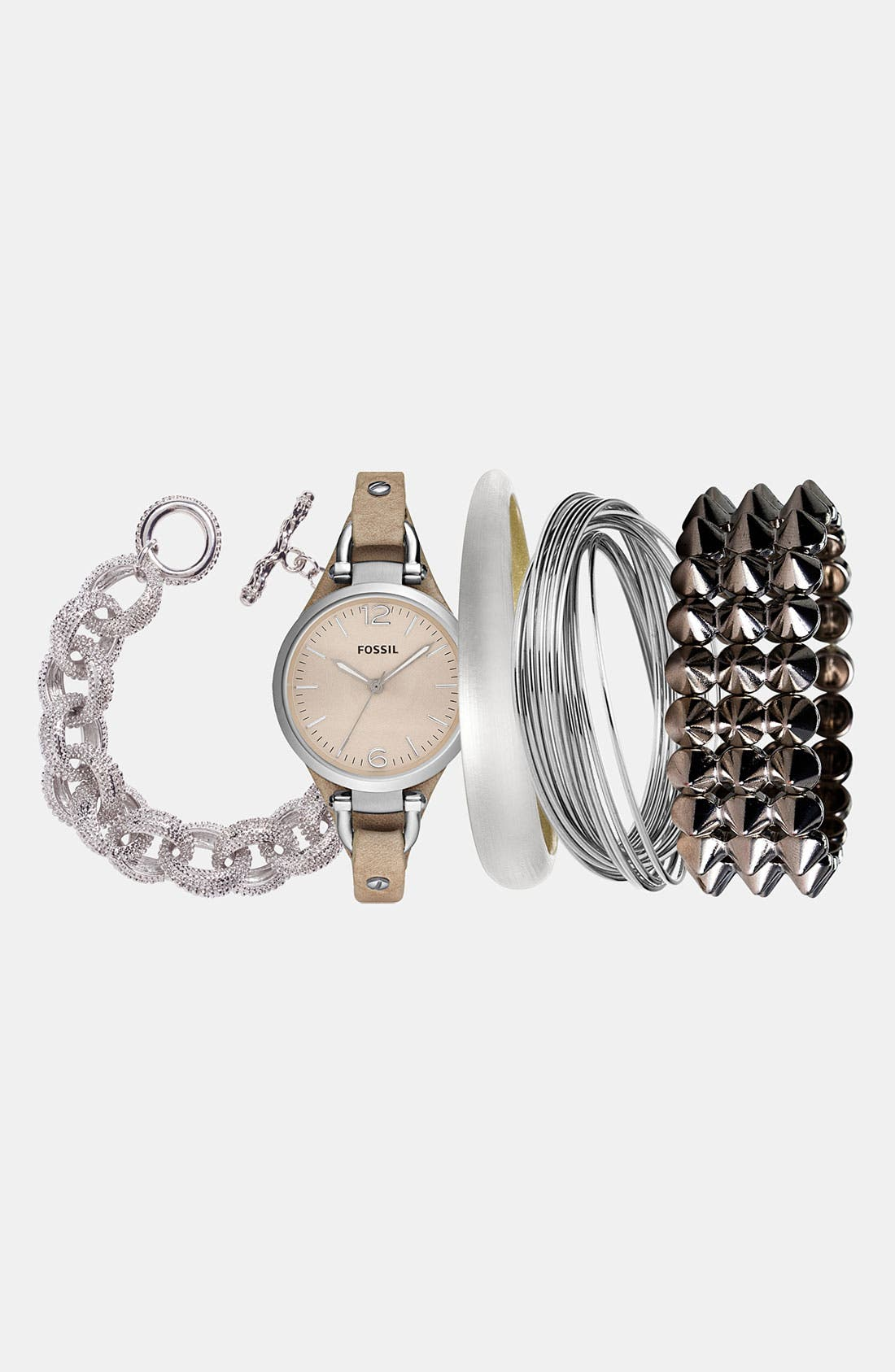 Alternate Image 1 Selected - Fossil Watch & Alexis Bittar Bangle