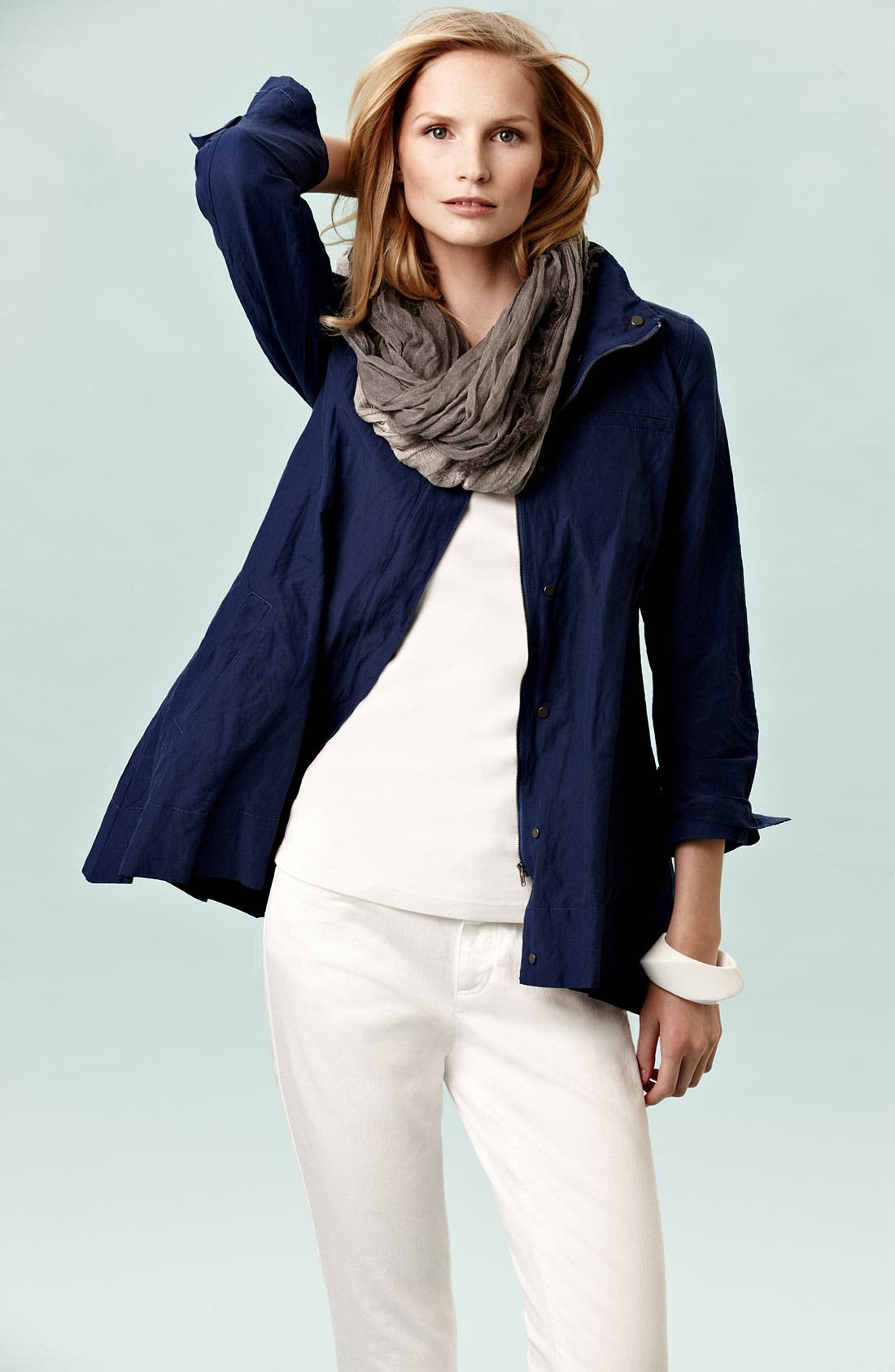 Alternate Image 2  - Eileen Fisher Sparkle Stripe Scarf