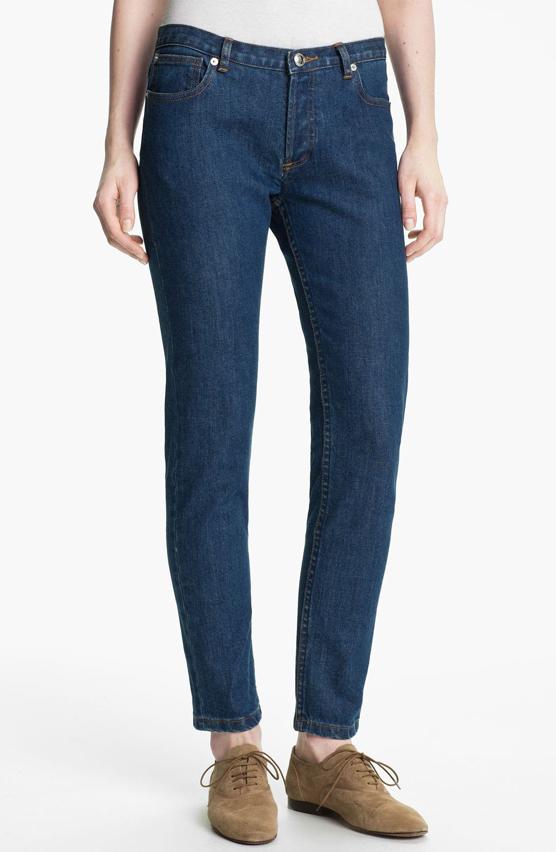 Alternate Image 1 Selected - A.P.C. Slim Leg Crop Jeans
