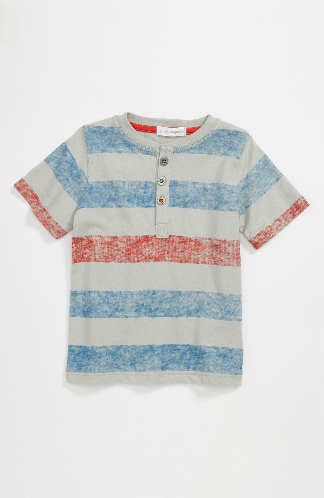 Alternate Image 1 Selected - Pumpkin Patch Stripe Shirt (Infant)