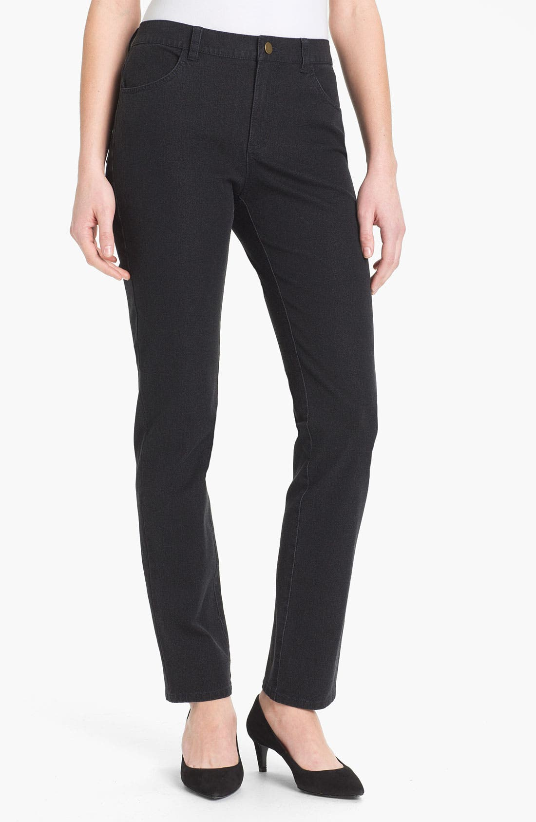 Main Image - Lafayette 148 New York Slim Leg Curvy Stretch Jeans