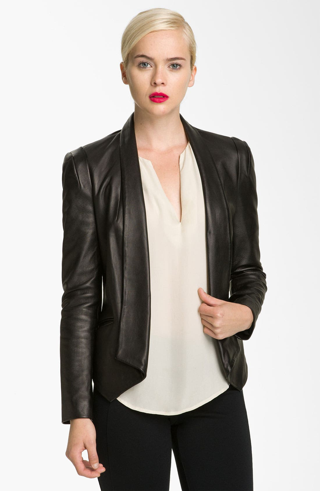 Alternate Image 1 Selected - Rebecca Minkoff 'Becky' Leather Jacket