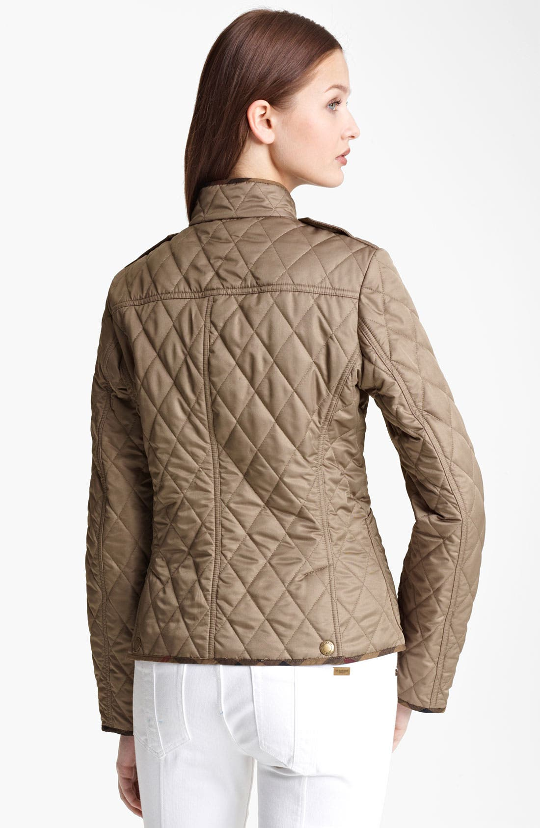 Alternate Image 2  - Burberry Brit Zip Quilted Jacket