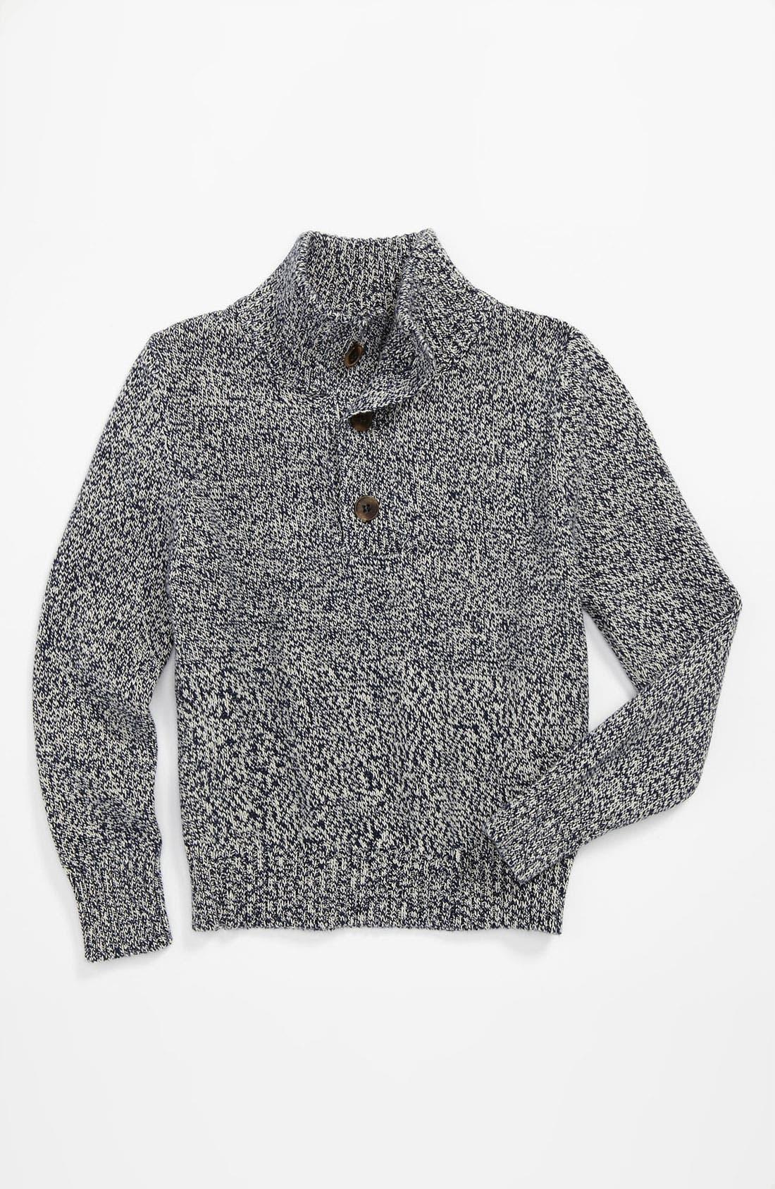 Main Image - Peek 'Nathan' Marled Mockneck Sweater (Toddler, Little Boys & Big Boys)