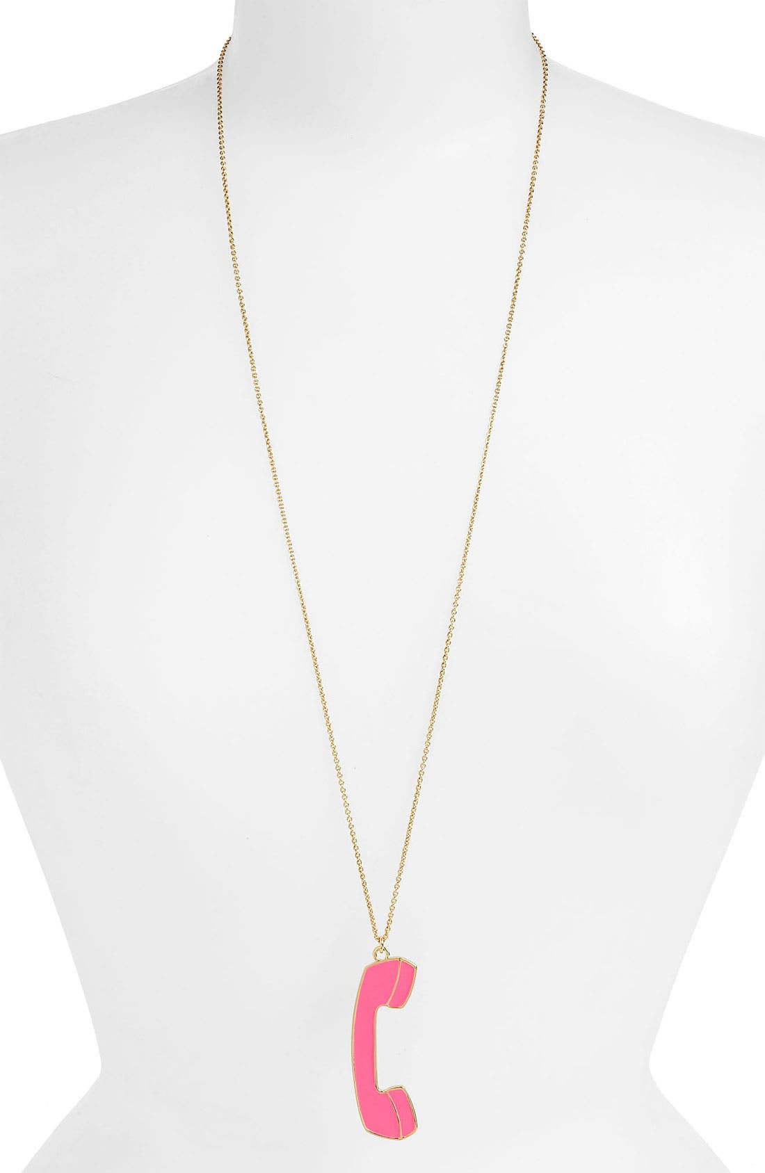 Alternate Image 2  - kate spade new york 'hold the phone' long pendant necklace