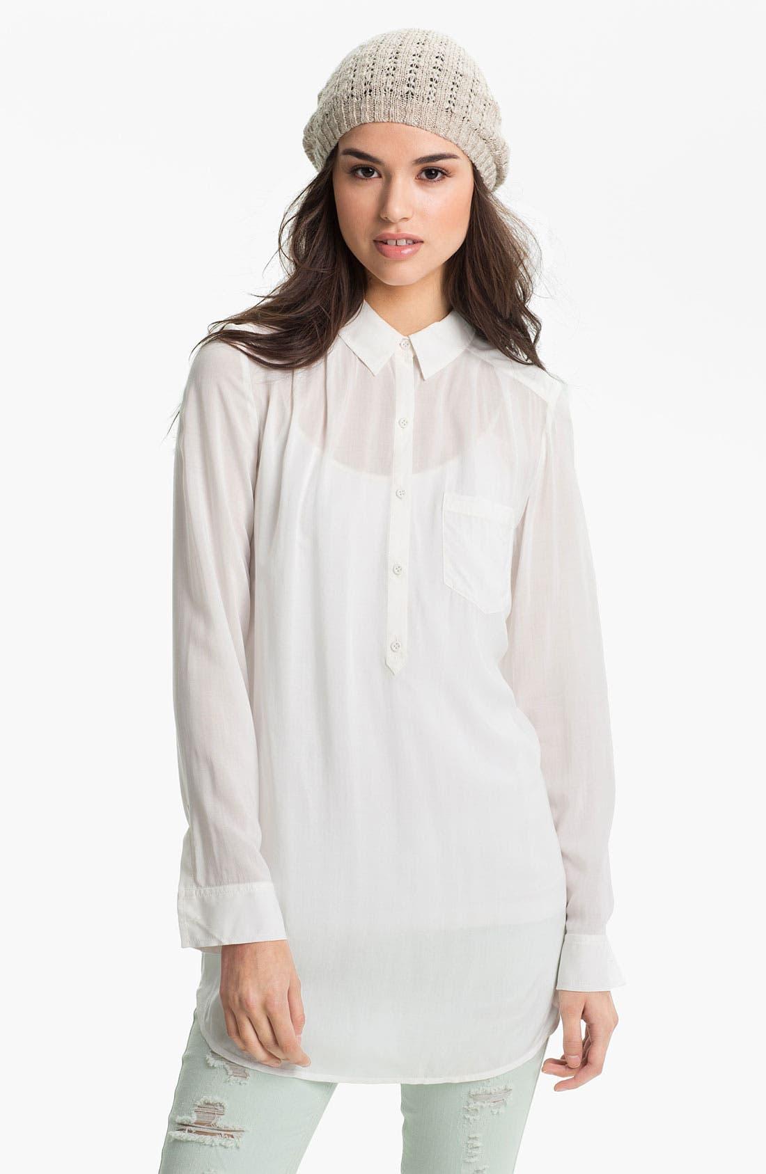 Main Image - BP. 'Wanderlust' Shirt Tunic (Juniors)