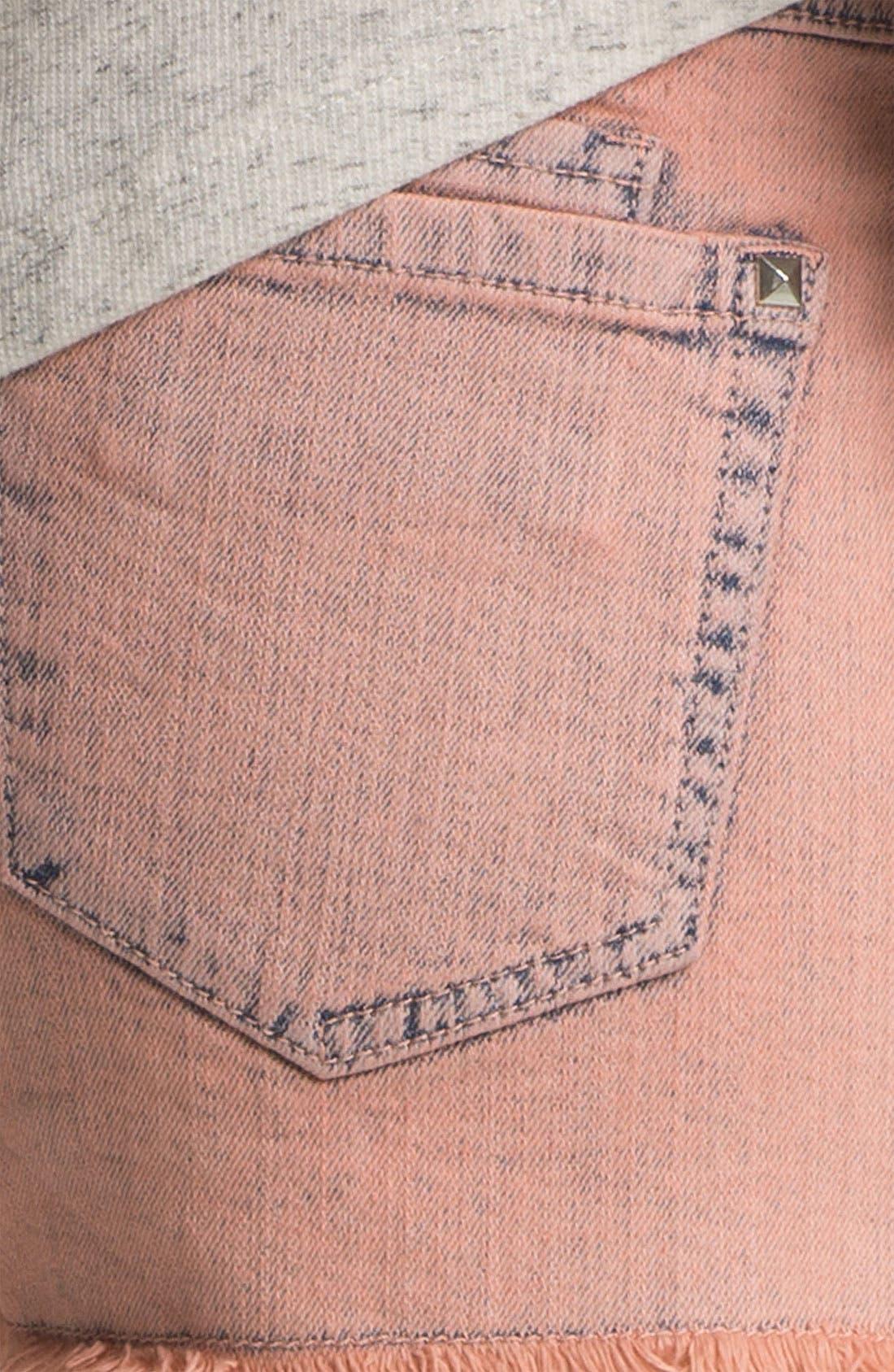 Alternate Image 3  - Jolt Studded High Waist Cutoff Shorts (Juniors)
