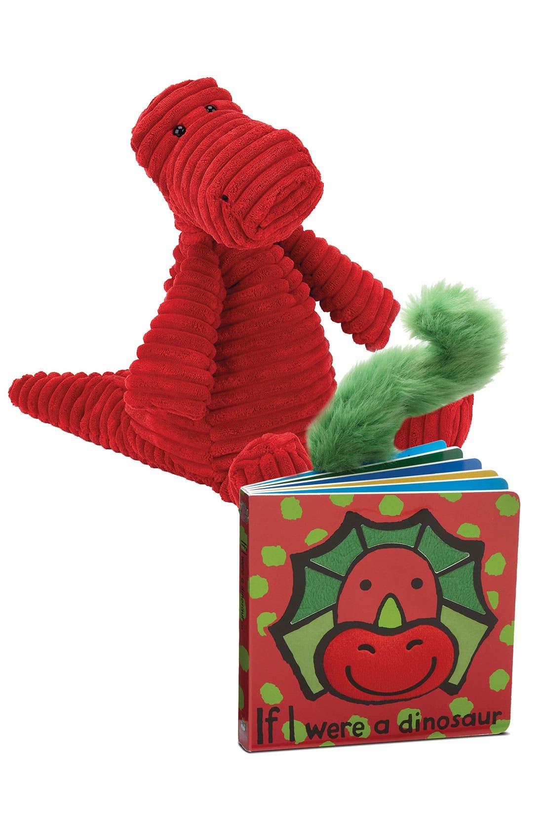 Alternate Image 1 Selected - Jellycat Dinosaur Book & Stuffed Animal