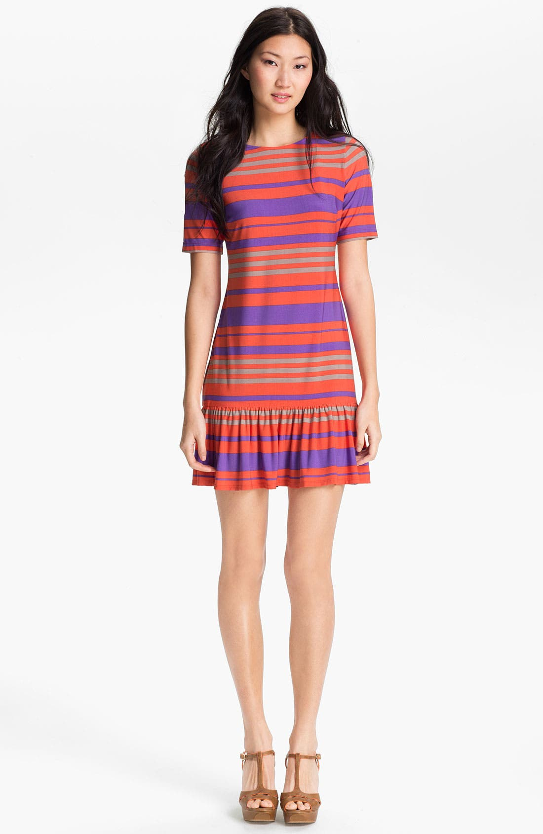 Main Image - Donna Morgan 'Sydney' Stripe Drop Waist Dress