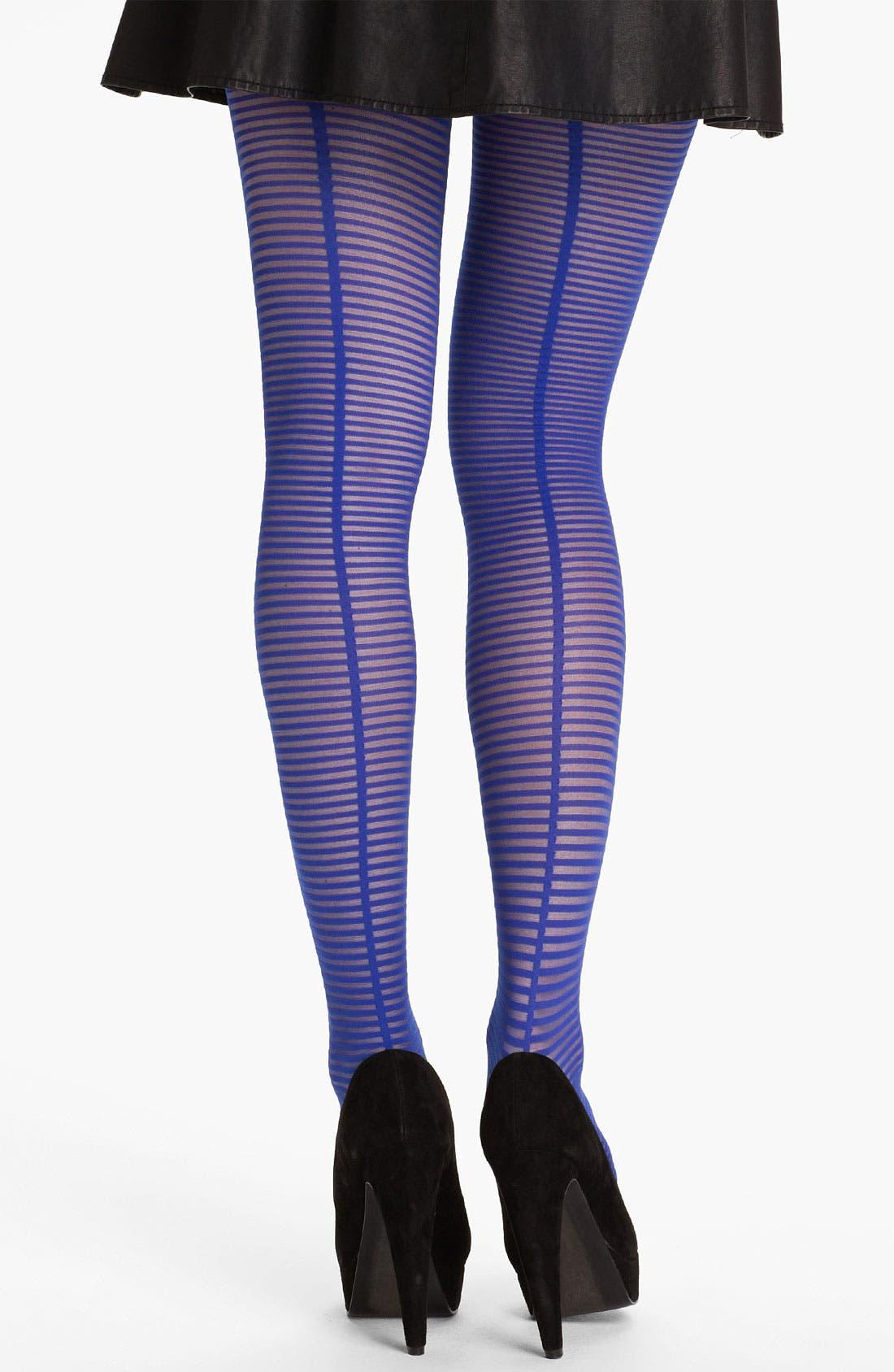 Main Image - kate spade new york sheer stripe pantyhose