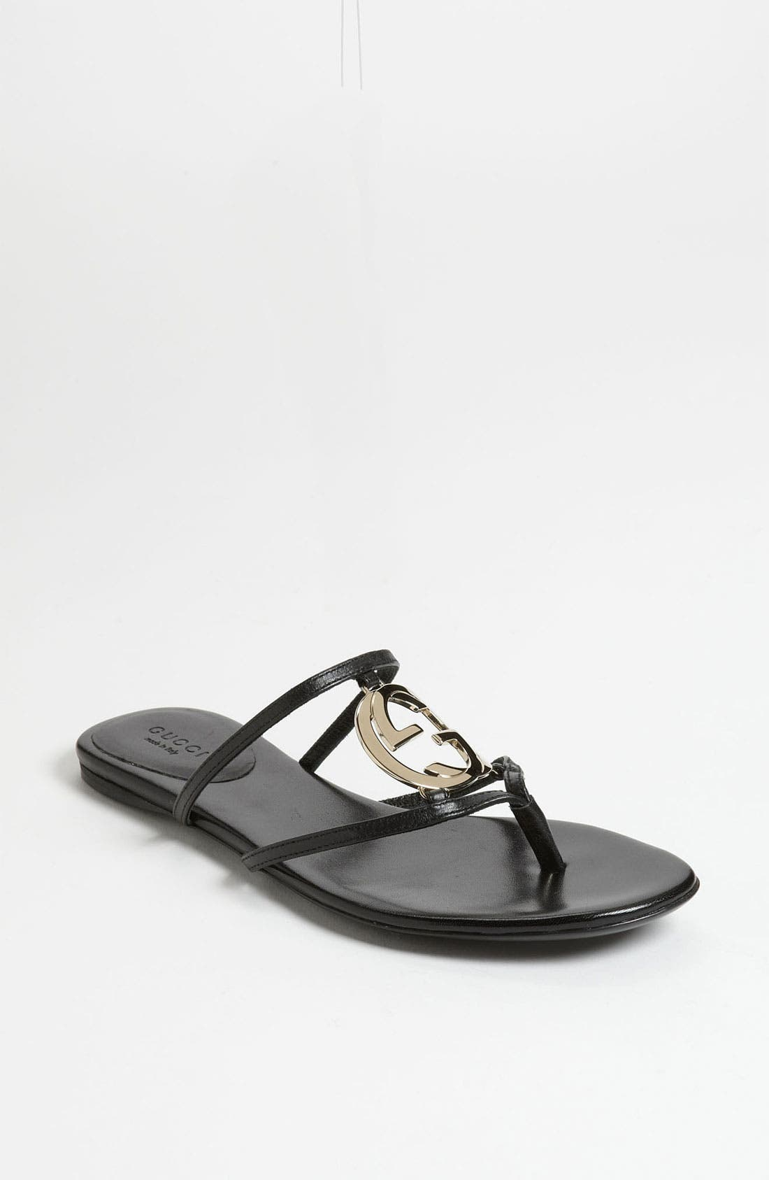 Alternate Image 1 Selected - Gucci 'GG' Logo Sandal