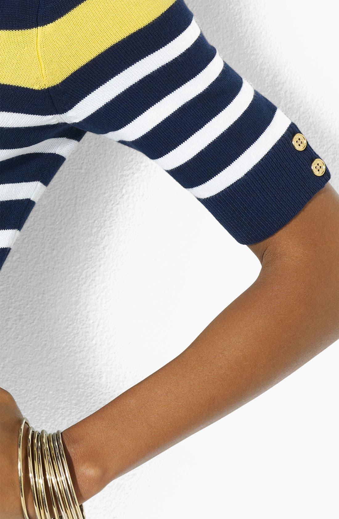 Alternate Image 3  - Lauren Ralph Lauren Stripe Bateau Neck Sweater