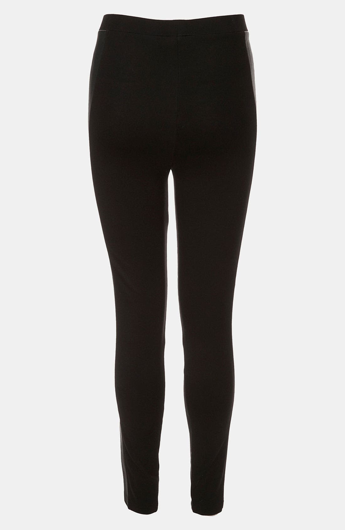 Alternate Image 2  - Topshop Faux Leather Paneled Maternity Leggings