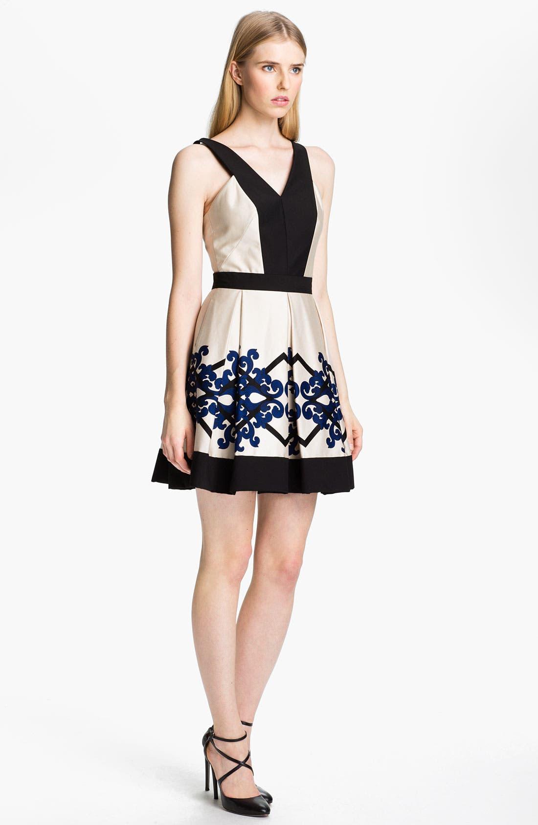 Alternate Image 1 Selected - Robert Rodriguez Box Pleated Dress