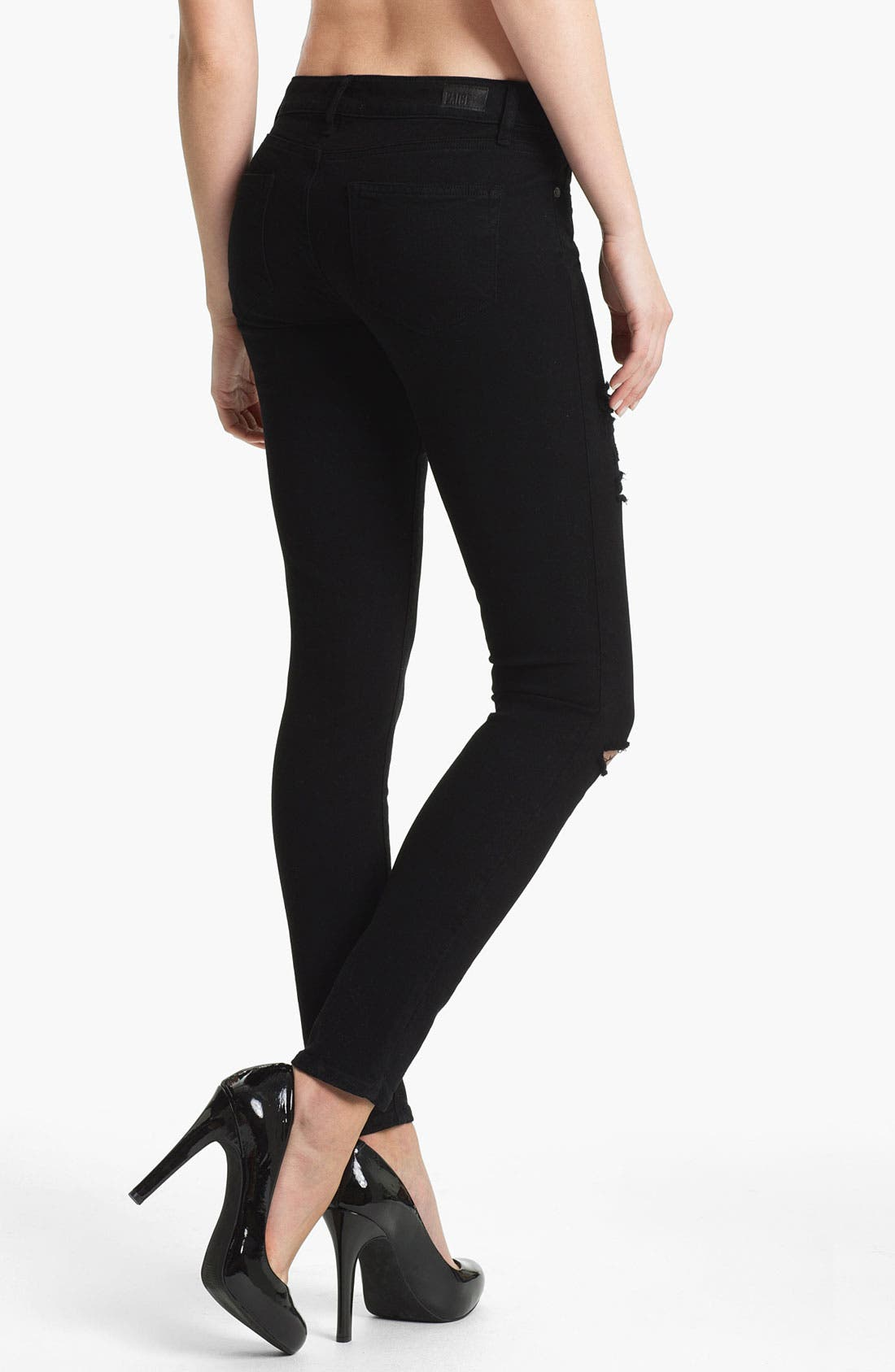 Alternate Image 2  - Paige Denim 'Verdugo' Stretch Skinny Jeans (Black)