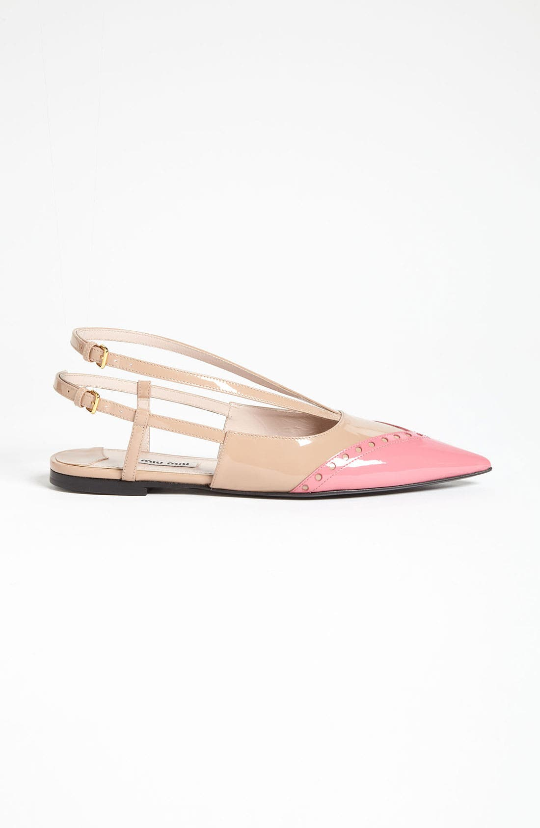 Alternate Image 4  - Miu Miu Pointed Toe Ballet Flat