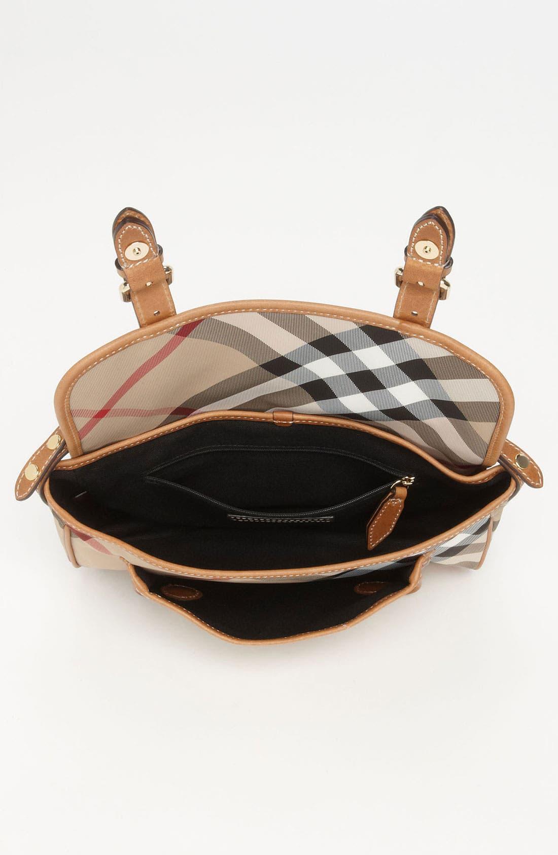 Alternate Image 3  - Burberry 'Liv' Check Print Crossbody Bag (Girls)