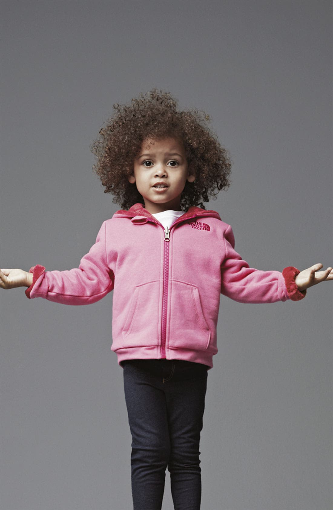 Main Image - The North Face Hoodie & United Colors of Benetton Jeggings(Infant)
