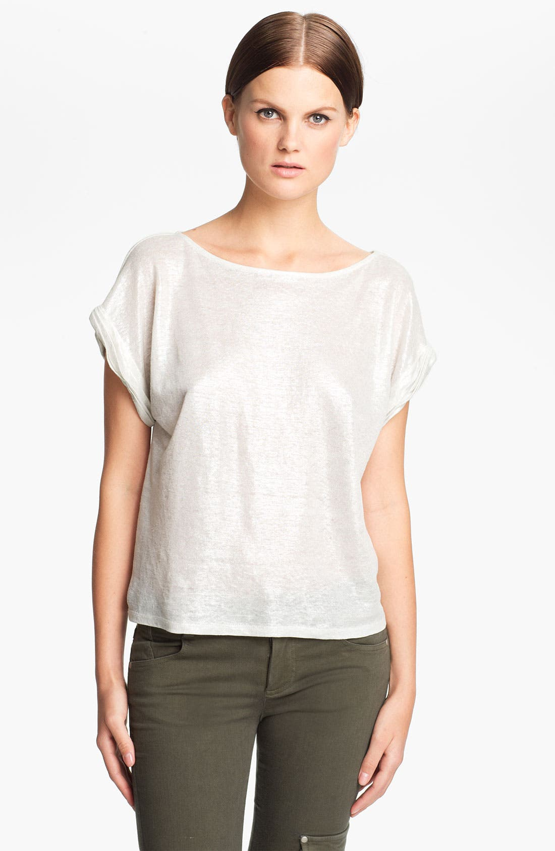 Alternate Image 1 Selected - Alice + Olivia Foiled Linen Tee
