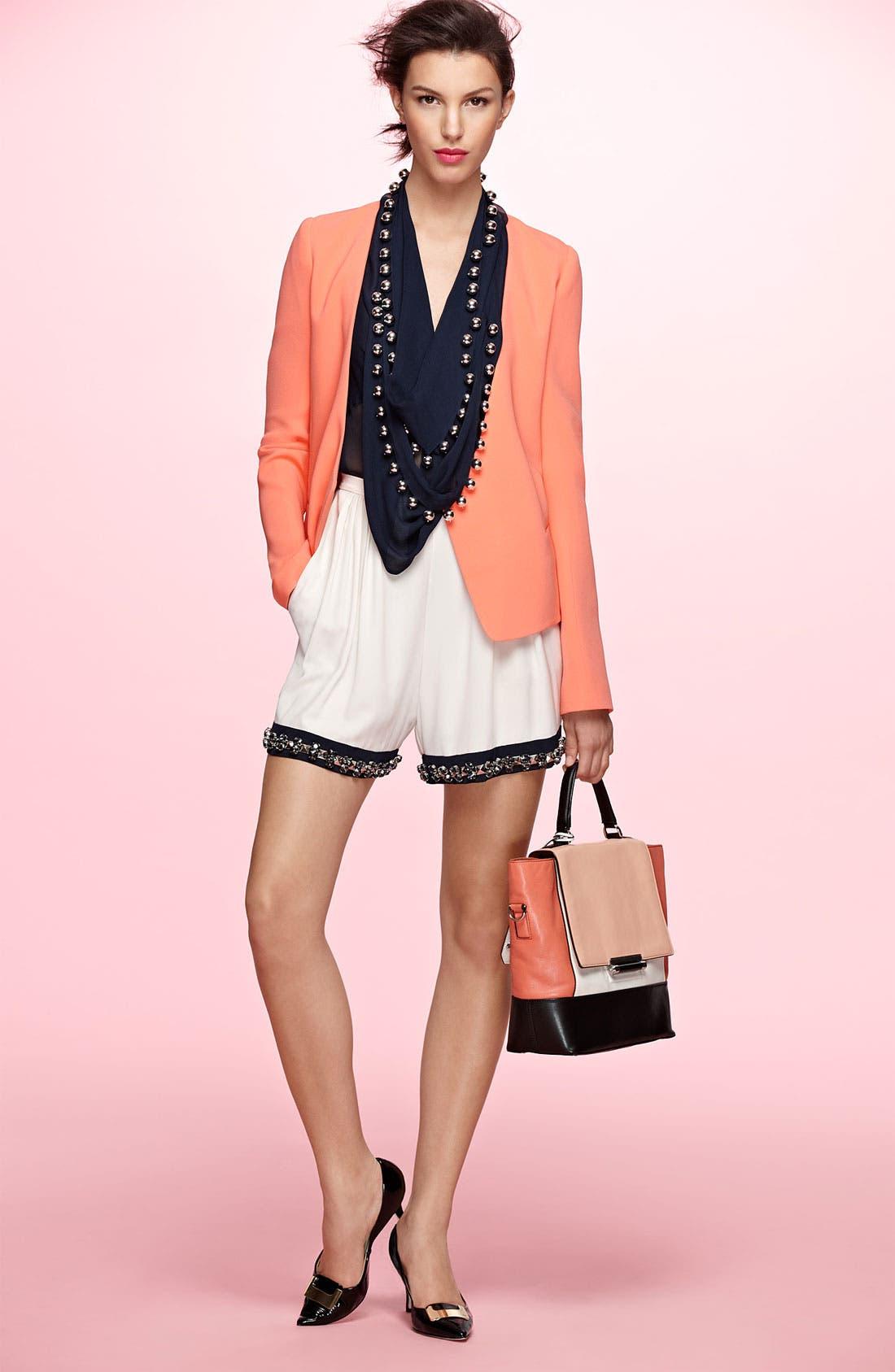 Main Image - Diane von Furstenberg Jacket, Top & Shorts
