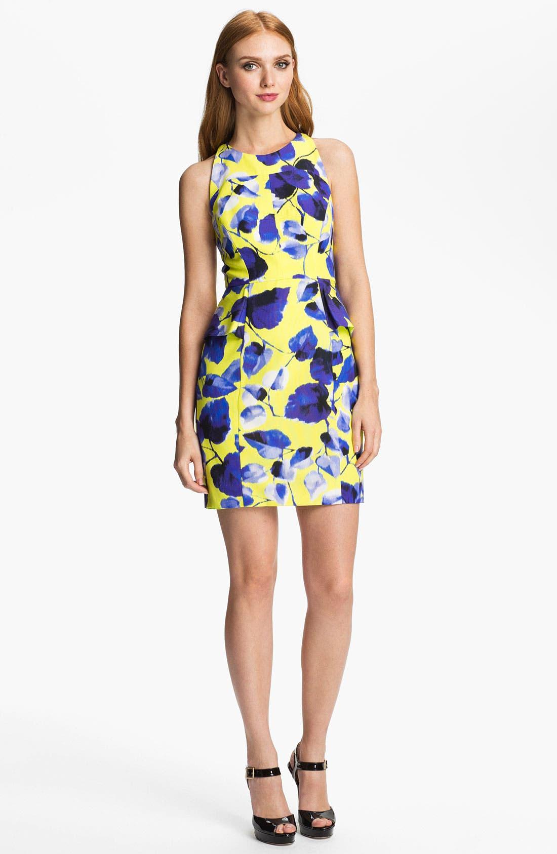 Alternate Image 1 Selected - Milly Print Cotton Blend Sheath Dress