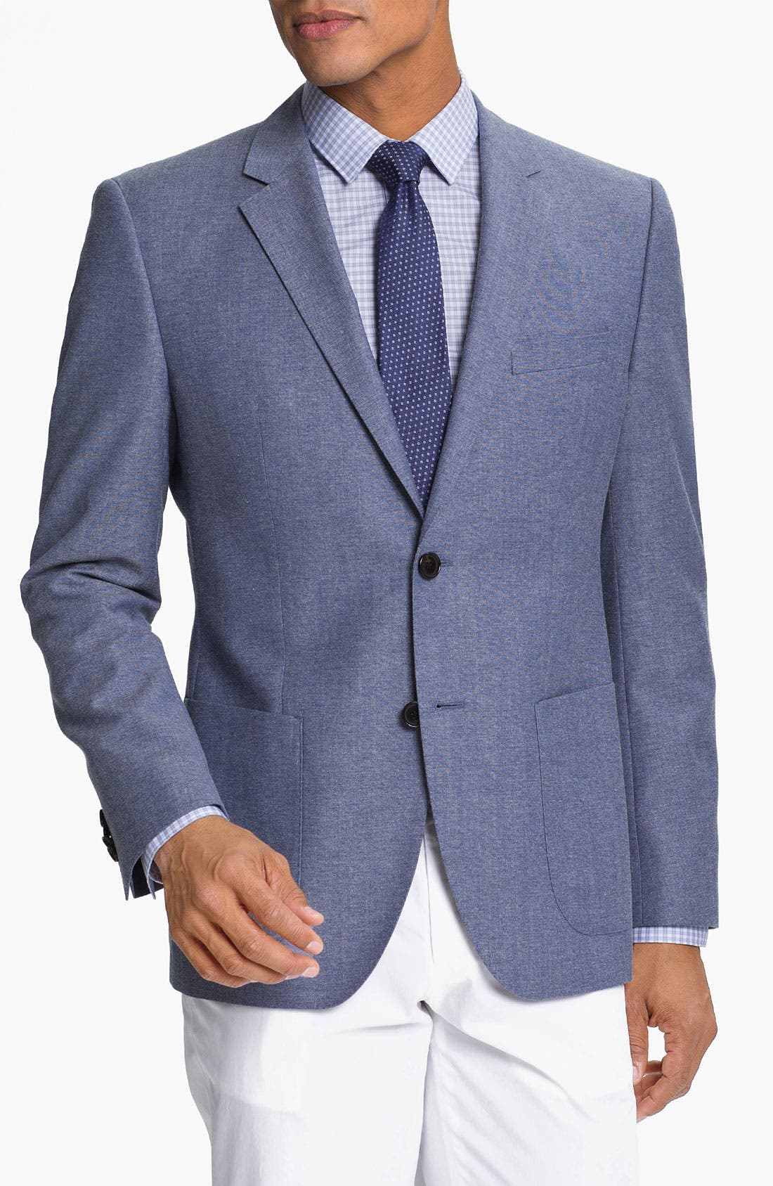 Alternate Image 1 Selected - BOSS HUGO BOSS 'Jesse' Trim Fit Cotton Blend Blazer