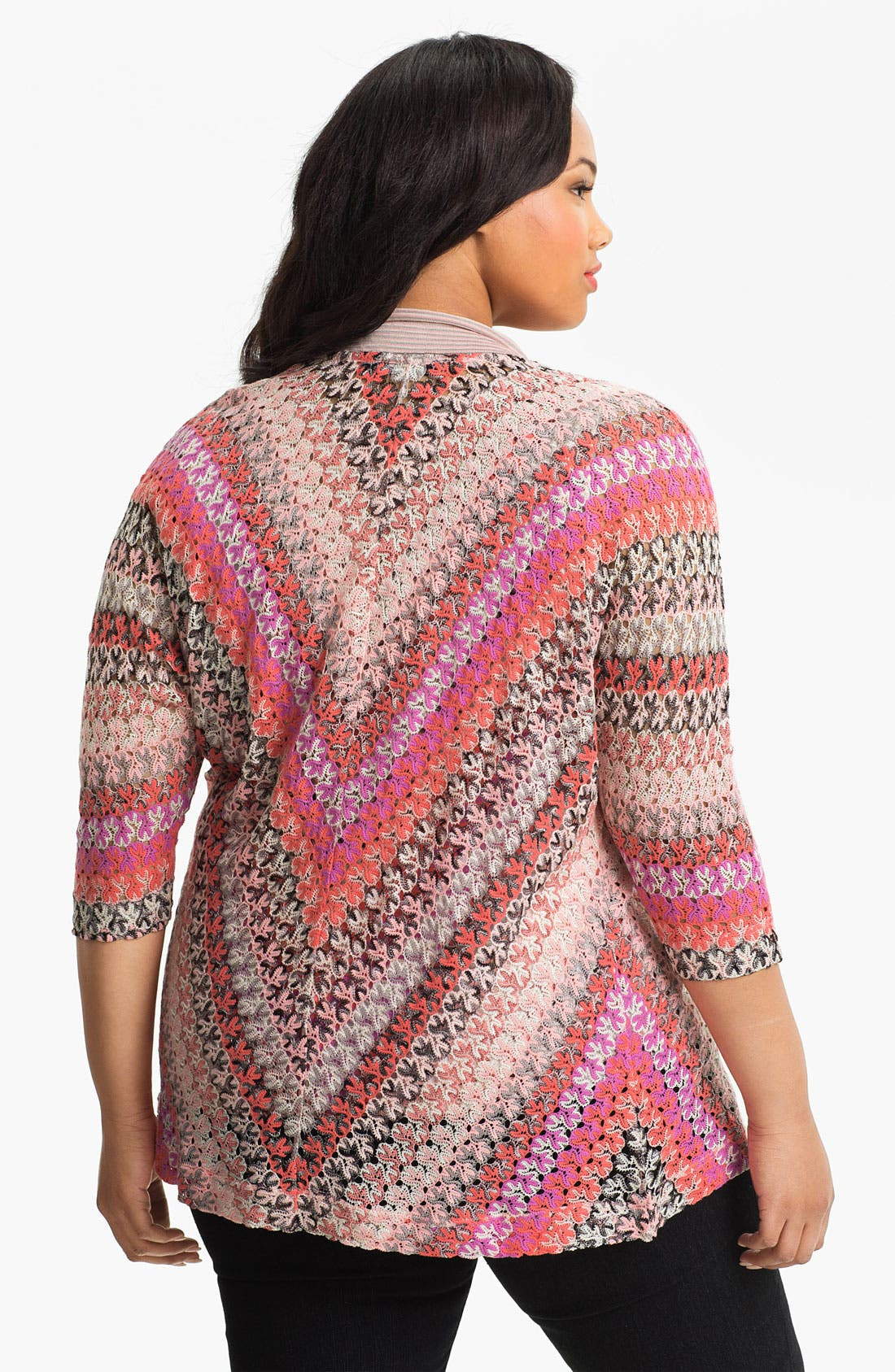 Alternate Image 2  - Nic + Zoe Lace Weave Cardigan (Plus)
