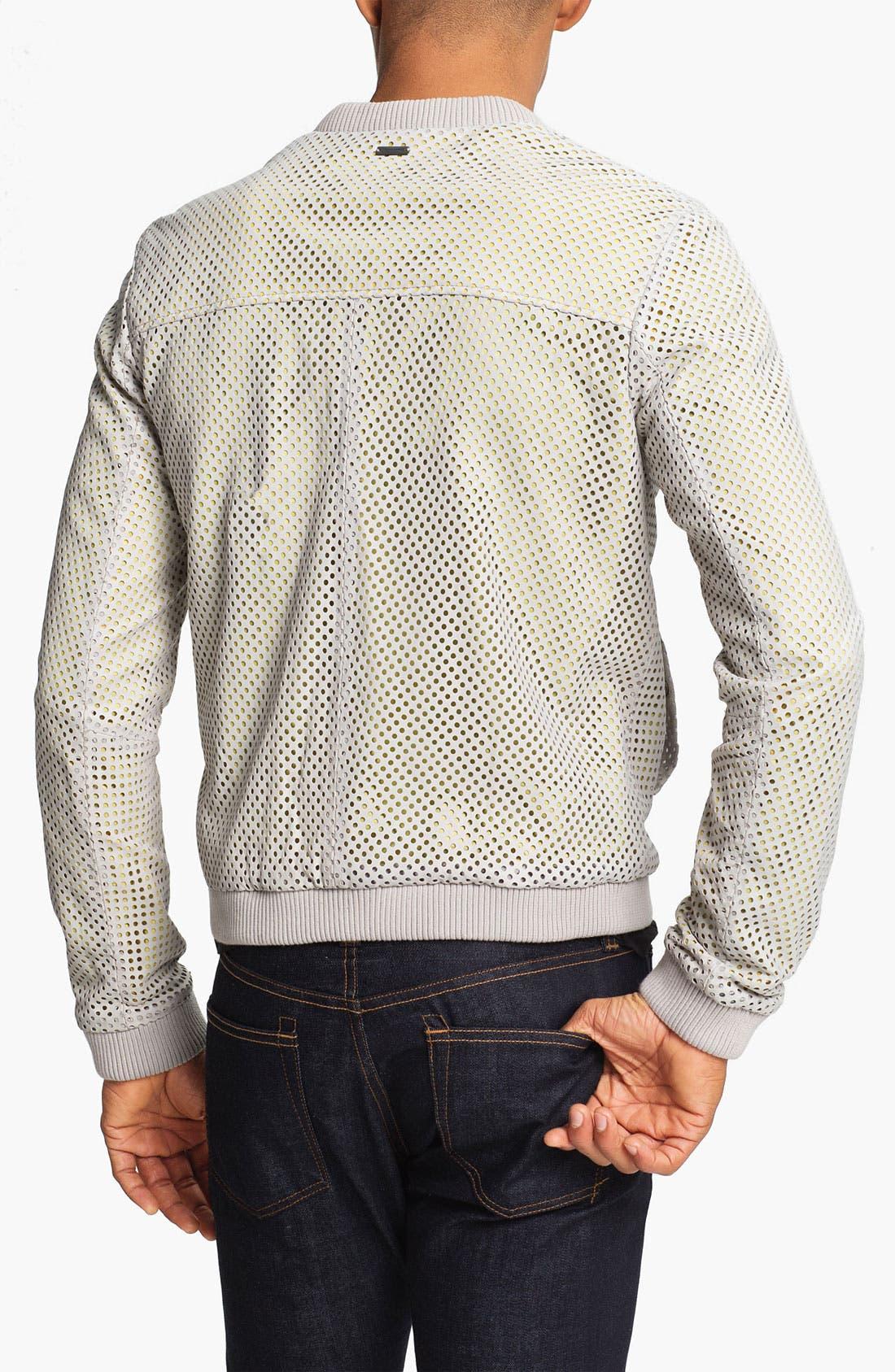 Alternate Image 2  - adidas SLVR Leather Jacket
