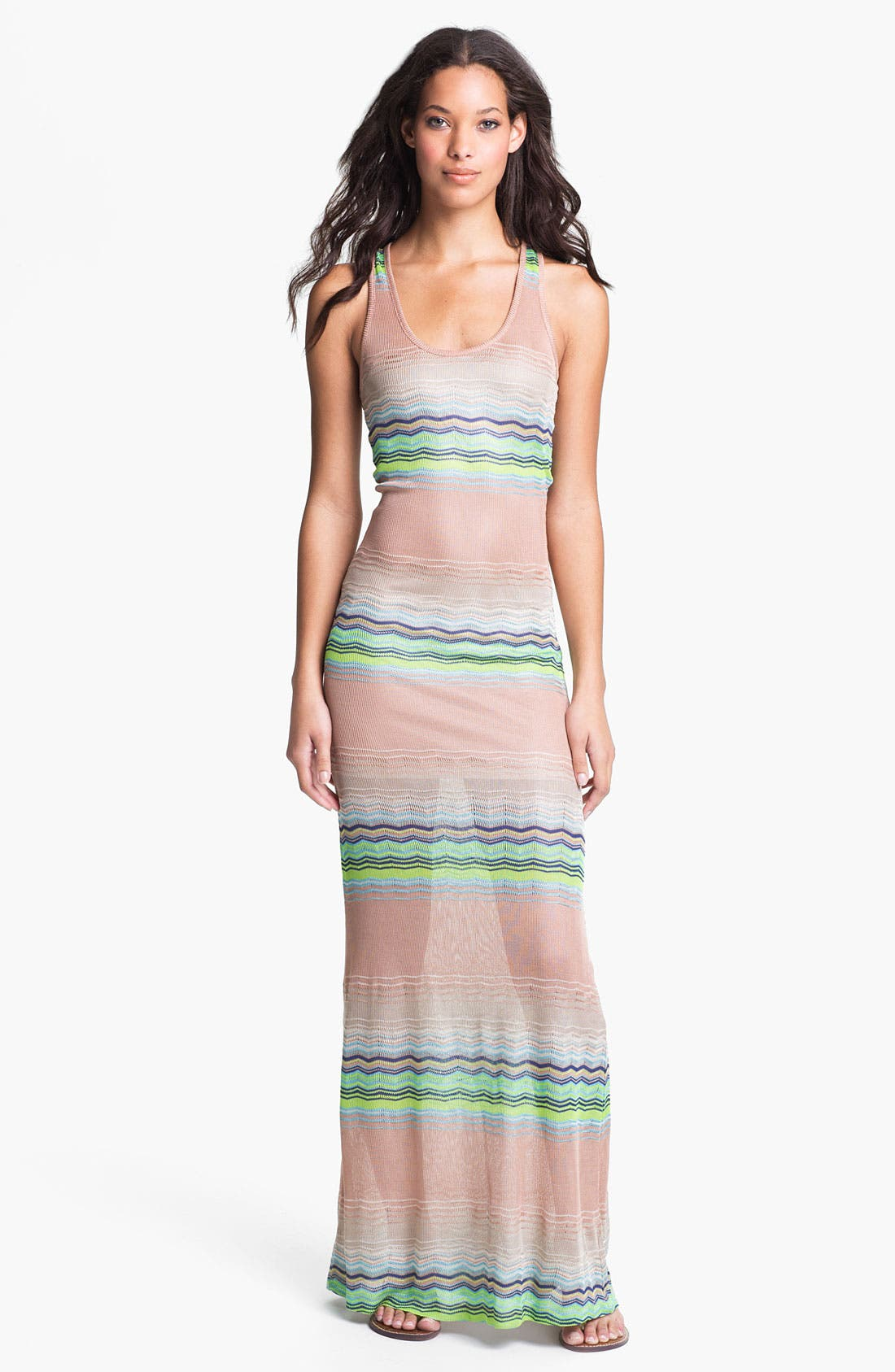 Main Image - Young, Fabulous & Broke 'Hamptons' Zigzag Stripe Maxi Dress