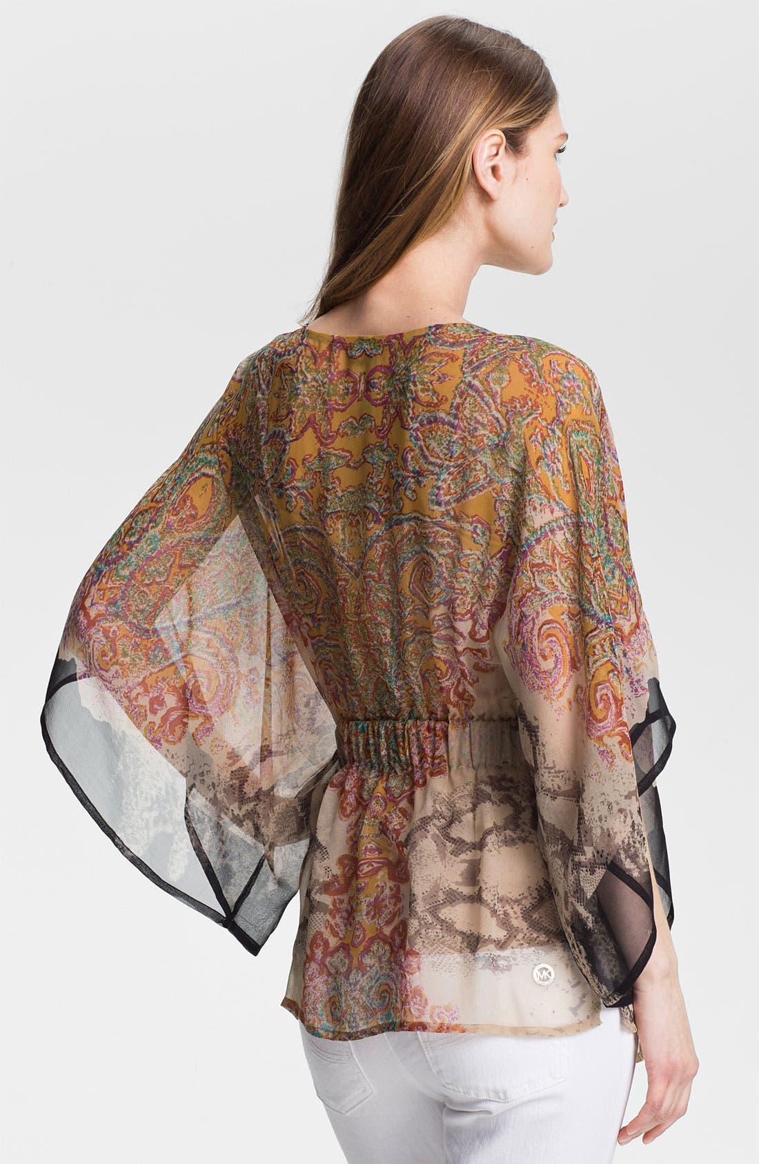 Alternate Image 2  - Kay Celine Silk Chiffon Tunic