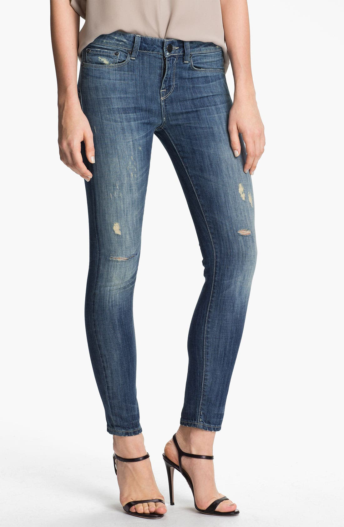 Main Image - Vince Skinny Stretch Ankle Jeans (Light Stone)