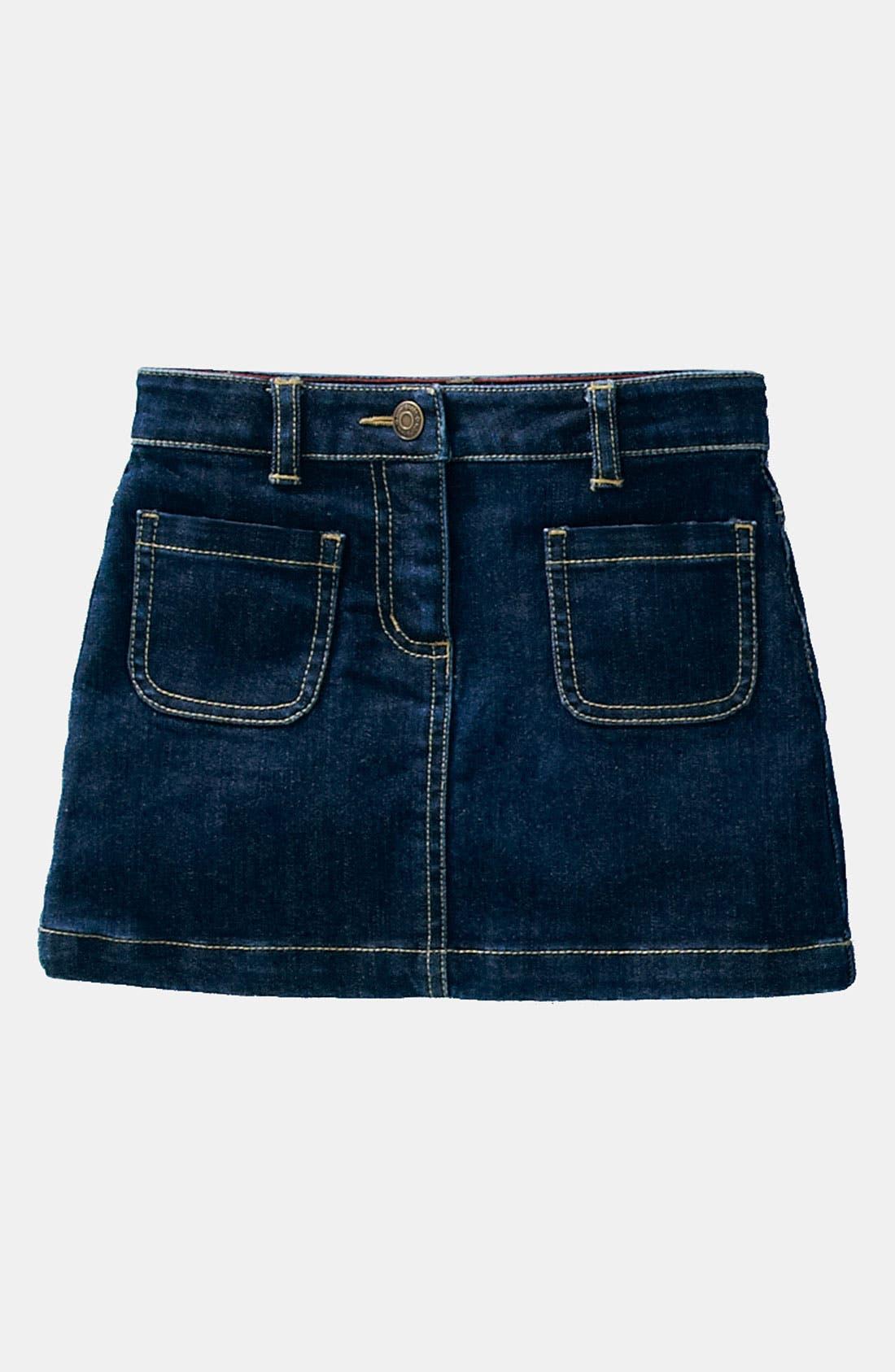 Alternate Image 1 Selected - Mini Boden 'Patch Pocket' Skirt (Little Girls & Big Girls)