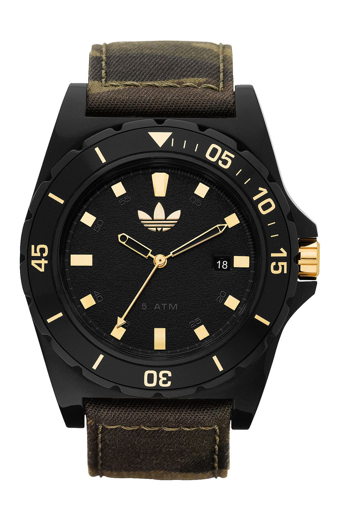 Main Image - adidas Originals 'Stockholm' Camo Strap Watch, 45mm