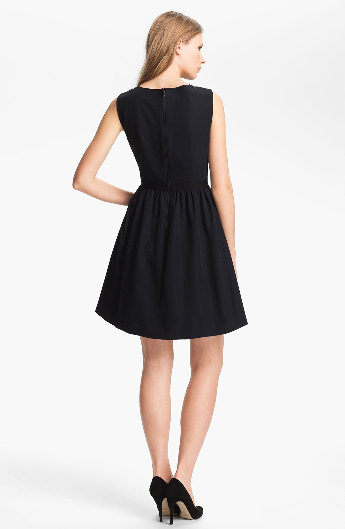 Alternate Image 2  - Miss Wu Lace Yoke Faille Dress (Nordstrom Exclusive)