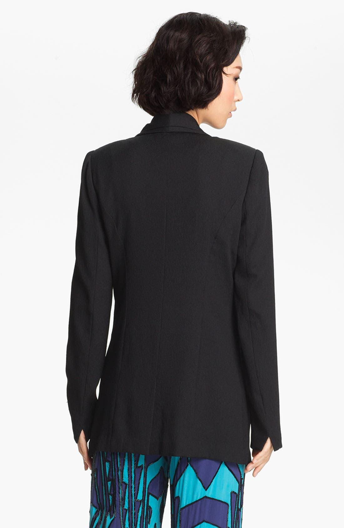 Alternate Image 3  - Tracy Reese Layered Lapel Stretch Crepe Jacket