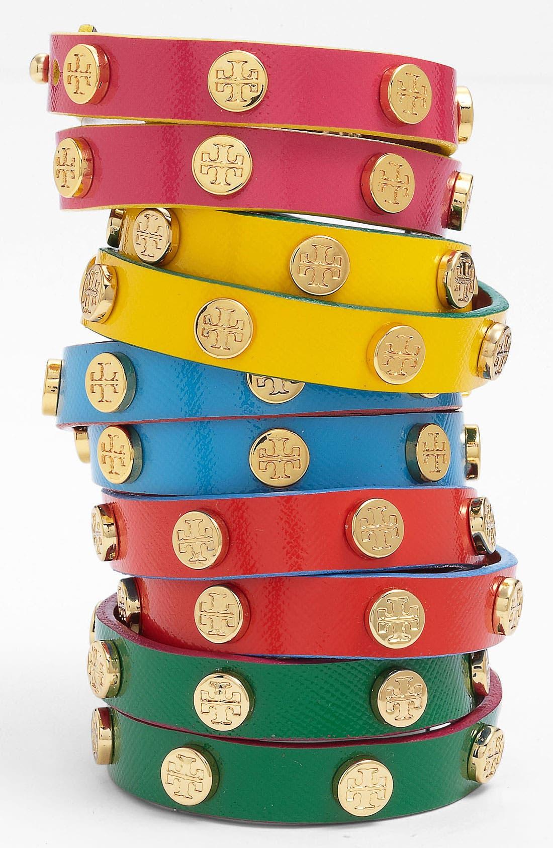 Alternate Image 1 Selected - Tory Burch Logo Double Wrap Bracelet