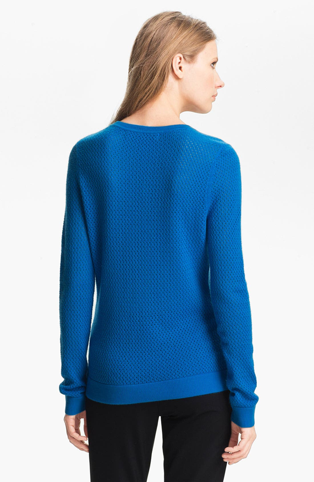 Alternate Image 3  - Miss Wu 'Sofie' Stitch Detail Cashmere Sweater (Nordstrom Exclusive)