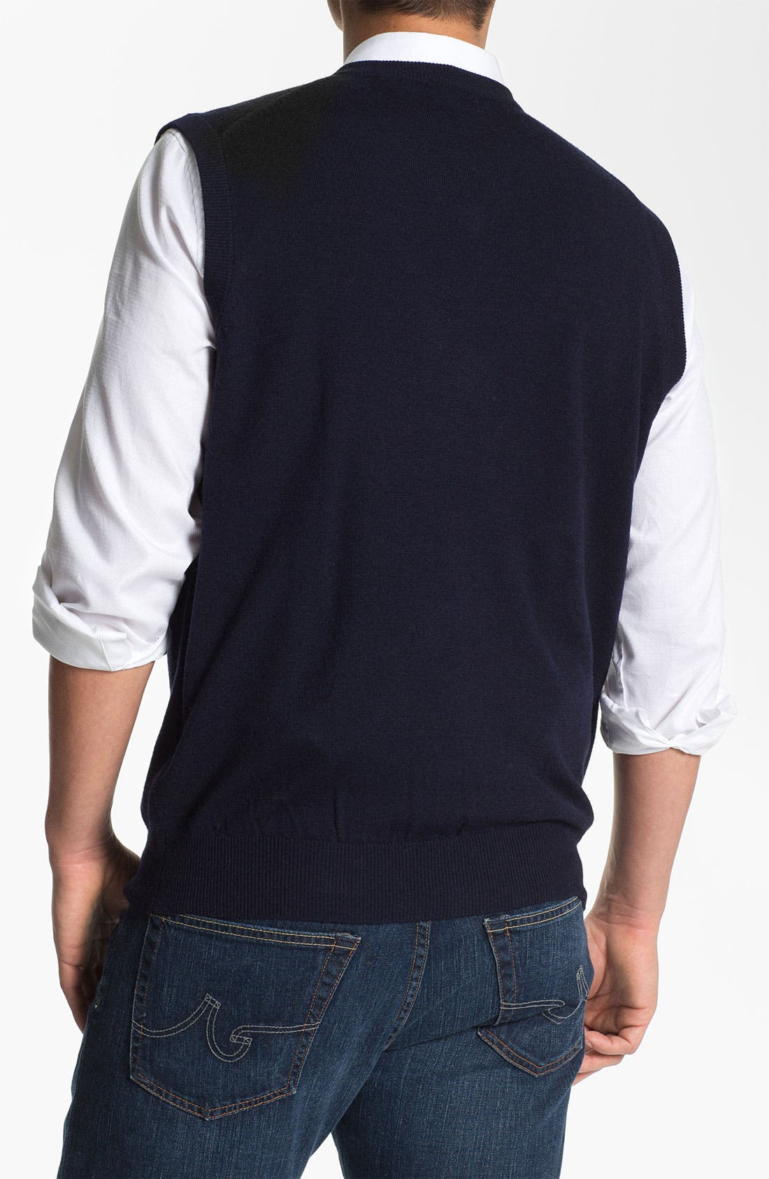 Alternate Image 2  - Toscano V-Neck Wool Blend Sweater Vest