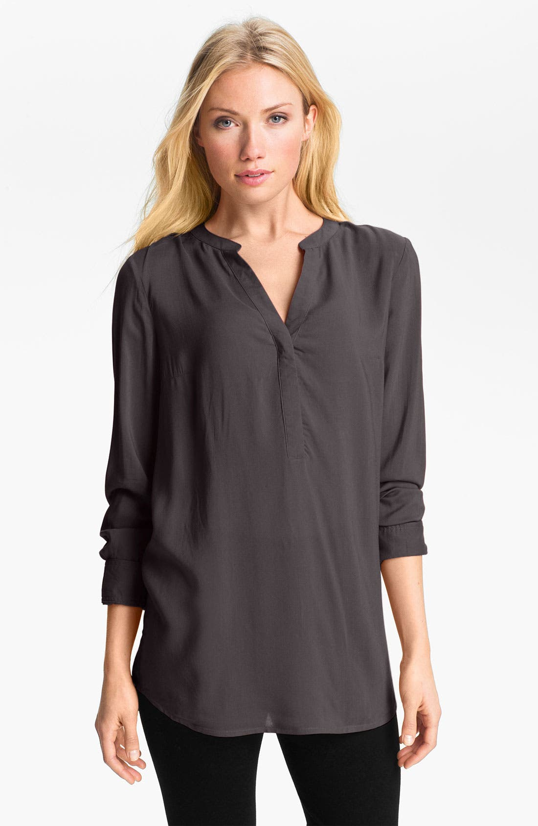 Alternate Image 1 Selected - Sandra Ingrish Split Neck Tunic