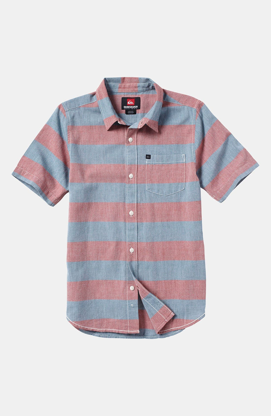 Alternate Image 1 Selected - Quiksilver 'Tube Prison' Woven Shirt (Big Boys)