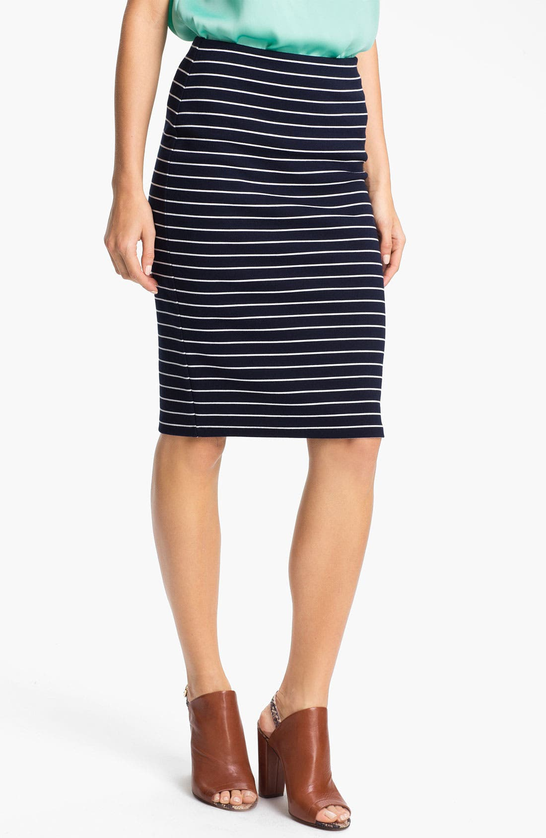Alternate Image 1 Selected - Vince Camuto Stripe Pencil Skirt