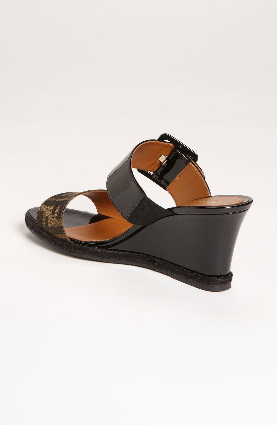 Alternate Image 2  - Fendi 'Vernis' Wedge Sandal (Women)
