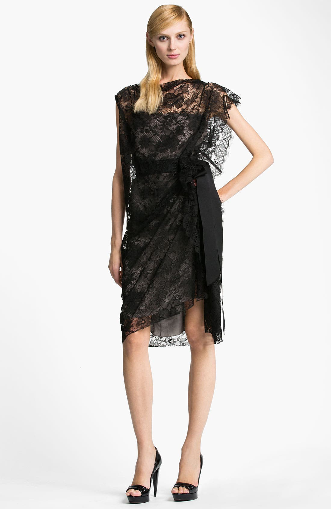 Alternate Image 1 Selected - Lanvin Side Draped Lace Dress