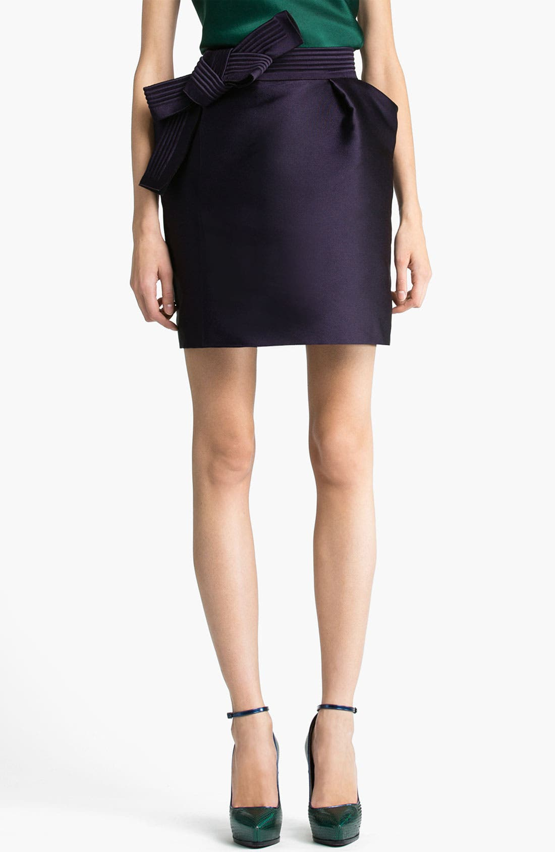 Alternate Image 1 Selected - Lanvin Bow Detail Techno Skirt