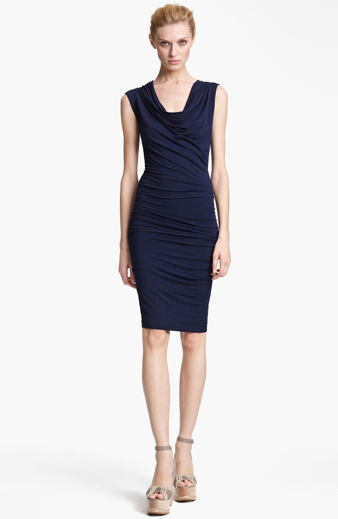 Main Image - Donna Karan Collection Cowl Neck Mélangé Jersey Dress