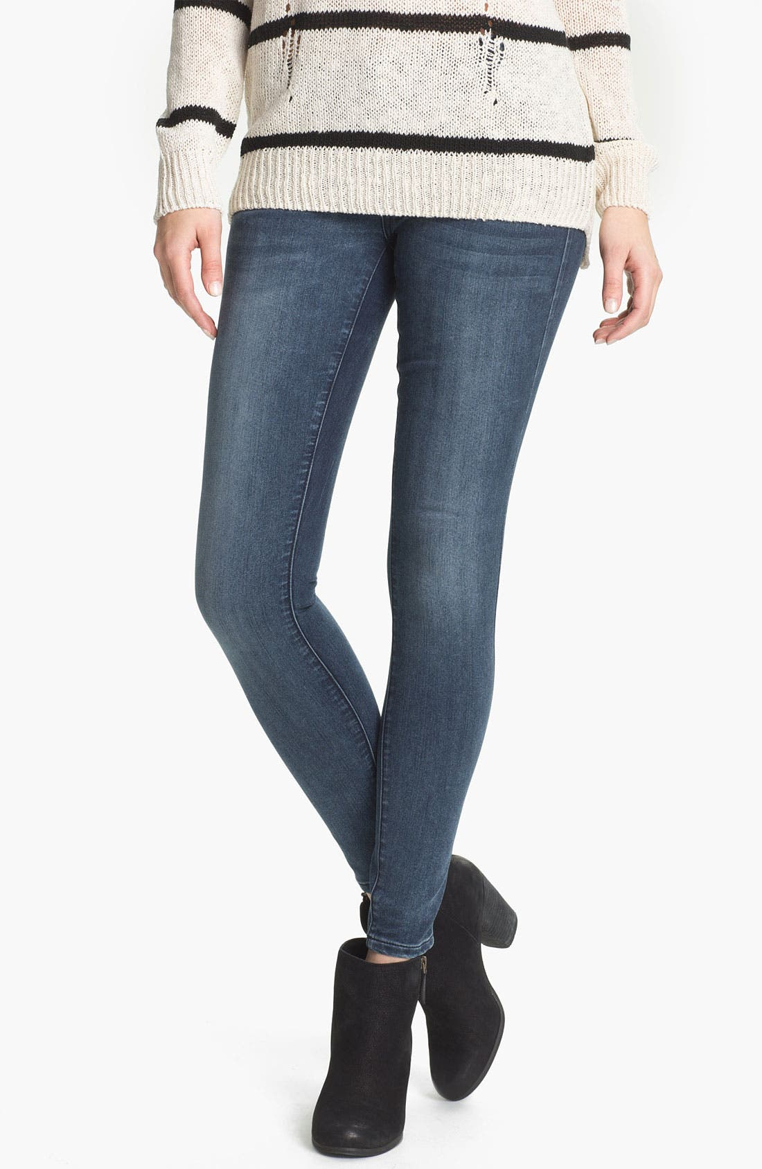 Alternate Image 1 Selected - STS Blue Super Skinny Jeans (Avalon Beach) (Juniors)