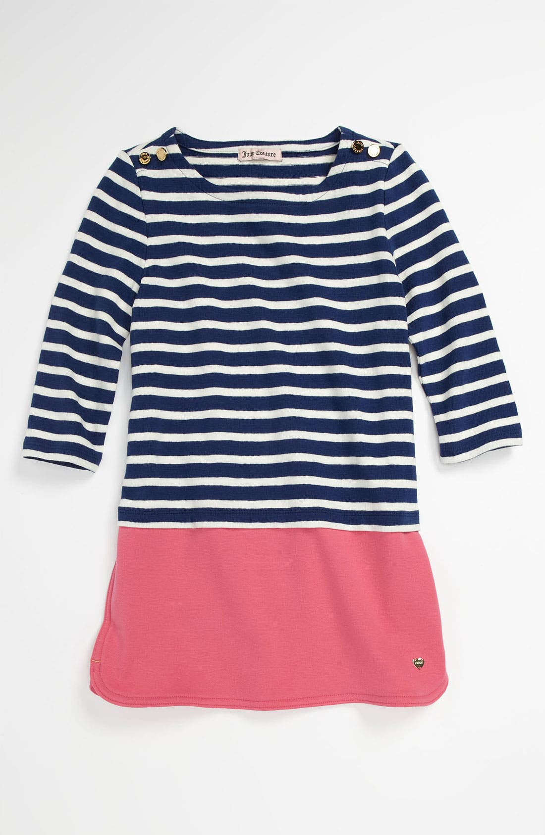 Main Image - Juicy Couture Ponte Knit Minidress (Little Girls & Big Girls)