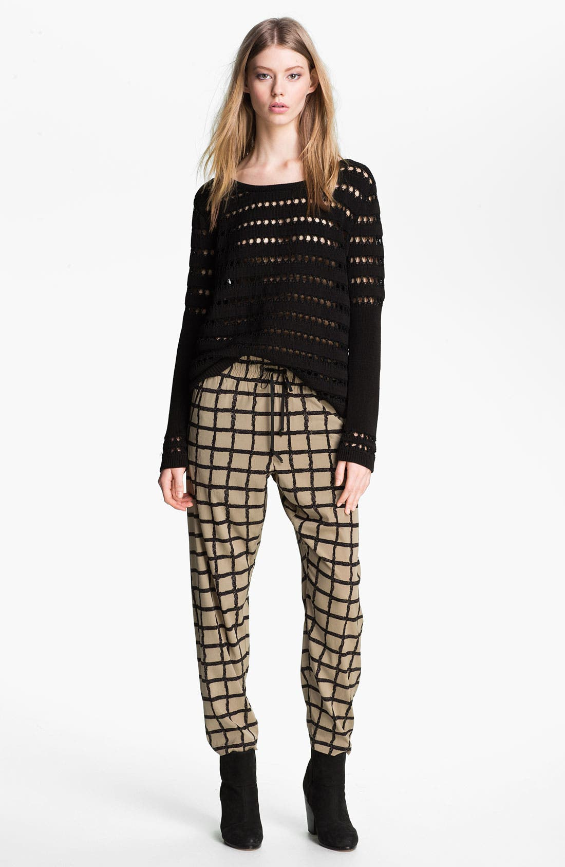 Alternate Image 3  - rag & bone Windowpane Silk Pants