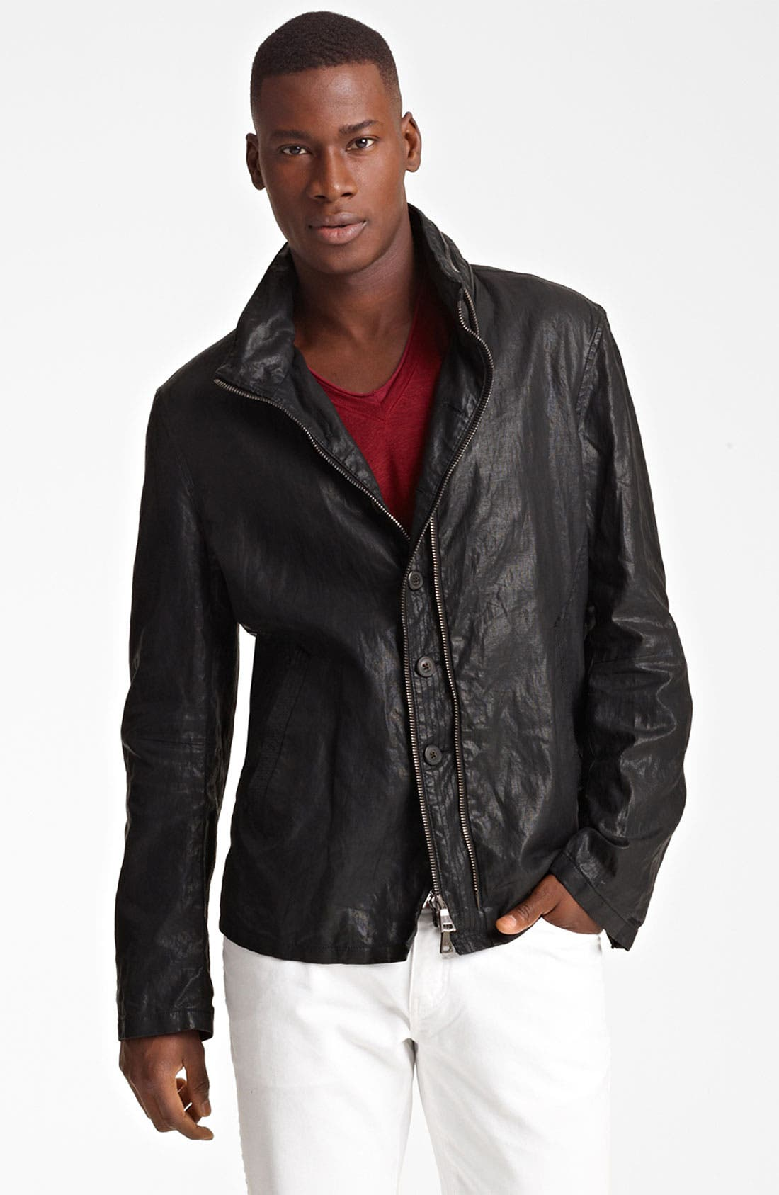 Alternate Image 1 Selected - John Varvatos Collection Resin Coated Linen Jacket